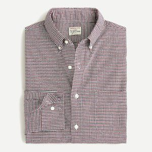New J Crew Slim Oxford Cotton Shirt Gingham Plaid